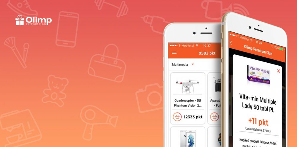 Olimp Premium Club app uses 2D code scanner for scoring points in loyalty programme